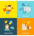 Social icons flat set vector