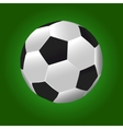 Football ball with green background vector