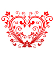 Valentine heart floral vector