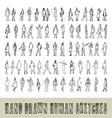 Hand drawn 70 human sketches vector