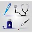 Hospital doctor equipment icons eps10 vector
