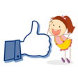 Girl with thumb vector