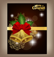 Christmas bells background vector