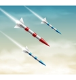 Three rockets vector