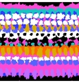 Striped hand painted seamless pattern vector