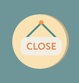 Close label sign symbol icon tablet closed vector