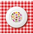 Food on the plate vector