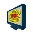 Lcd plasma tv television blam vector