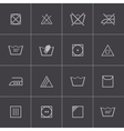 Black washing icons set vector
