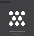 Rain premium icon white on dark background vector
