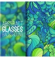 Abstract ornament background concept with glasses vector