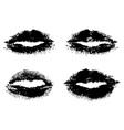 Black lips vector