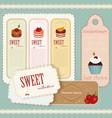 Vintage dessert menu vector