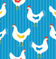 Seamless pattern with hens vector