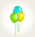 Bunch party balloons for your birthday vector