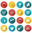 Soccer icons white vector