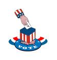 American election voting ballot box retro vector
