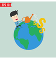 Businessman watering money - - eps10 vector