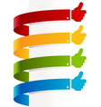 Colorful thumbs up banners vector