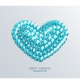Modern heart icon vector