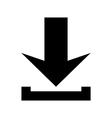 Arrow icon download vector