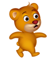 Cute bear cartoon walking vector