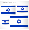Israel flag template vector