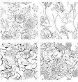Set of monochrome seamless wallpaper vector