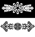 Set of two vintage ornate frames vector