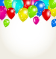 Holiday background with multicolor balloons vector