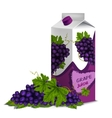 Juice pack grape vector