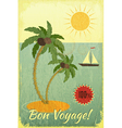 Retro vintage grunge travel postcard vector