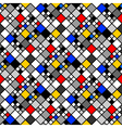 Design seamless colorful mosaic pattern vector