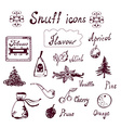 Snuff and tabacco icons set vector
