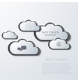 Modern clouds infographic background vector