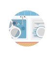 Flat icon for kitchen sink vector