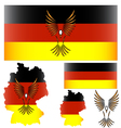 German flag and bird vector