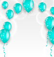 Holiday background with blue balloons vector