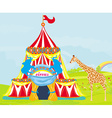 Circus with animals vector