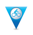 Cyclist symbol map pointer blue vector