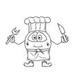 Emoticon cook sketch vector
