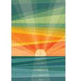 Sunset on beach geometric abstract vector