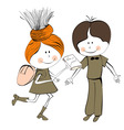 Girl and boy vector