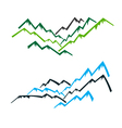 Group of mountains vector