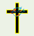 Cross n dove holy spirit vector