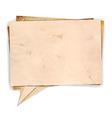 Aged paper speech bubble vector