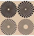Halftone dots pattern set in format vector
