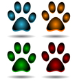 Four paws vector