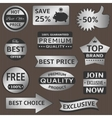 Silver labels vector