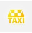 Taxi yellow icon or logo vector